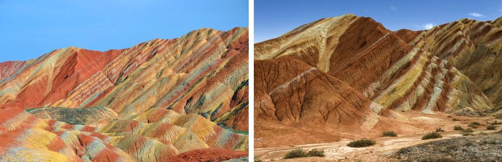 Цветные скалы Чжанъе Данксиа, Китай