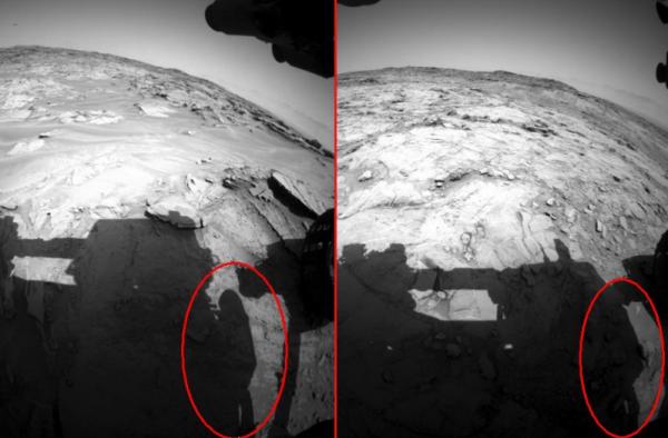 Уфологи заметили на снимках с Марса