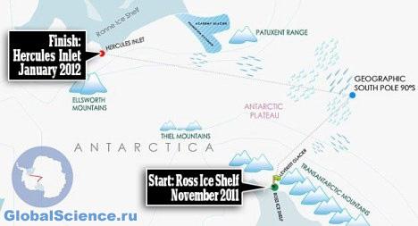 Путешественница из Великобритании пересекла на лыжах Антарктику