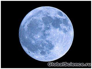 Голубая Луна появилась на небе в первую ночь августа