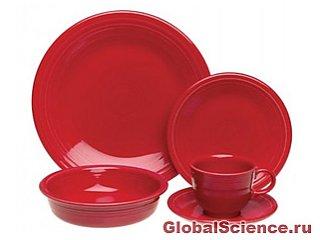 От переедания, а также пьянства спасет красная посуда