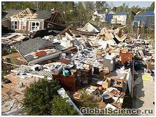 Пять штатов США пострадали от серии торнадо
