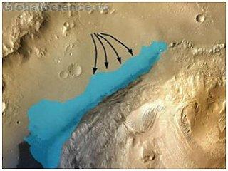 На красной планете найдены следы морской воды