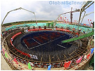 Китай начал строительство крупнейшего ядерного реактора