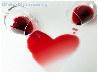 Красное вино защищает сердце