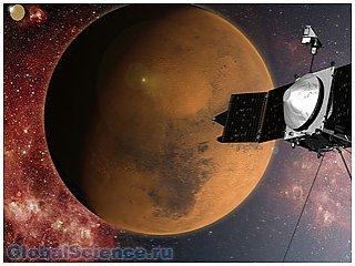 Спутник MAVEN успешно достиг орбиты красной планеты
