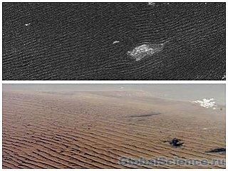 Сильный ветер создает на Титане загадочные дюны