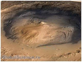 На Марсе обнаружен кратер, который до этого никто не видел