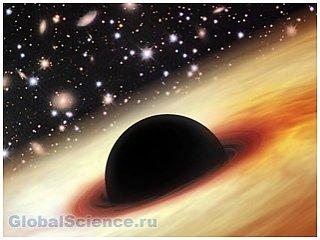 Астрономами обнаружена черная огромная дыра на заре развития Вселенной