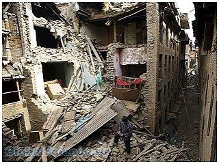 На территории Непала произошло сильное землетрясение