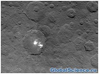 Ученые астрономы получили снимок тумана Церера