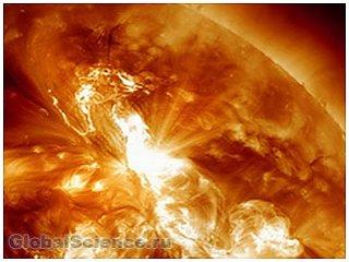 Несколько мощных вспышек зафиксировано на солнце