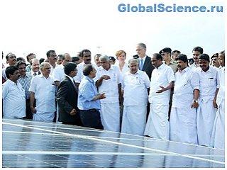 Индийский аэропорт работает за счет солнечных батарей