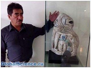 В Мексике была найдена статуя инопланетянина со времен Майя