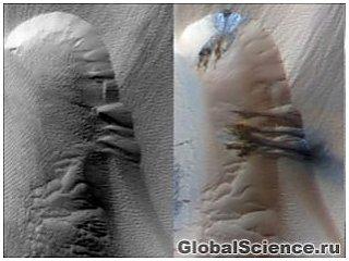 Піщані дюни Марса щорічно змінюють положення