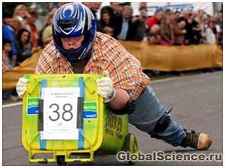 Двукратным чемпионом Европы по гонкам на мусорных баках стал немецкий студент