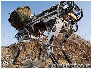 Впечатляющие способности четвероногого робота BigDog