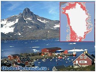 Рекордная температура зафиксирована в Гренландии