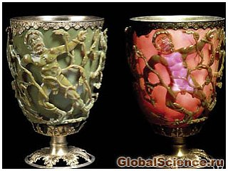 Кубок древних римлян сделан с применением нанотехнологий