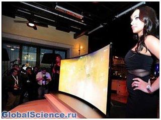 Компанией Samsung представлены телевизоры с изогнутым экраном