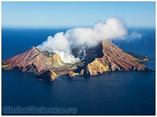 Несколько вулканических островов тихого океана слились в один