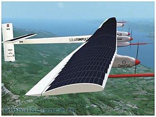 В Швейцарии разработан самолет на солнечных батареях