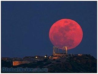 Днем 15-го апреля произойдет лунное затмение