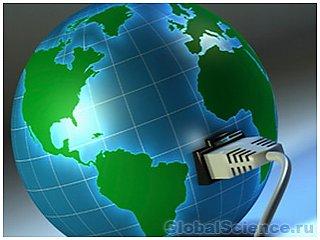 Карта мирового Интернет-трафика