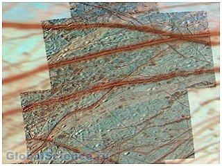 На Европе обнаружены тектонические плиты