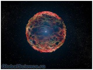 Обнаружен редкий тип сверхновой галактики