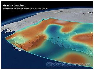 Земная гравитация изменяется из-за таяния льда
