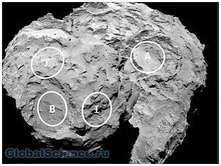 Получены первые спектры комы кометы 67Р/Чурюмова- Герасименко (фото)