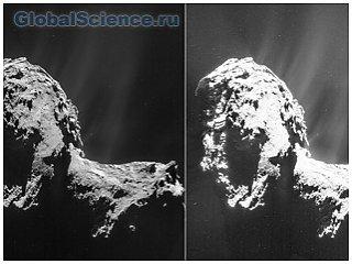 Вид кометы 67Р/Чурюмова-Герасименко с тридцатикилометрового расстояния (фото)