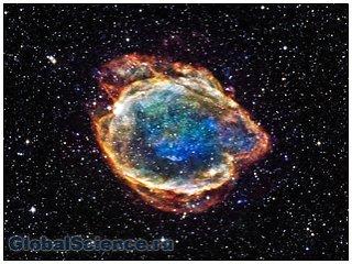 Ученые зафиксировали как выглядит взорвавшаяся сверхновая G299