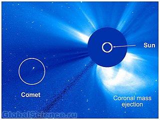 Комета-одиночка пережила встречу с Солнцем