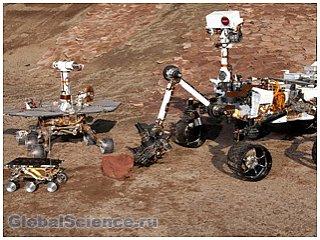 Марсоход наткнулся на камень