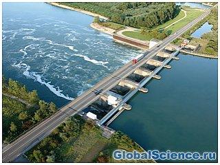 Океанские приливы и отливы используются для производства электроэнергии