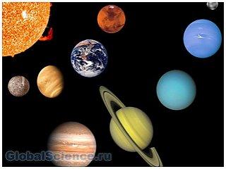 Планеты солнечной системы могут низвергнуть лёд