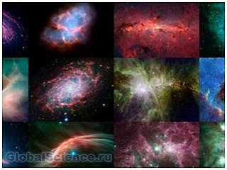 Специалисты NASA создали календарь со снимками Spitzer