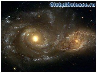 Переданы снимки слияния двух галактик