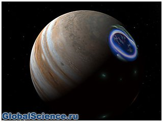 Астрономы: северное сияние на Юпитере вызывают солнечные бури