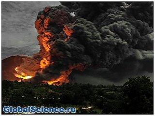 В Индонезии произошло ещё одно извержение вулкана Синабунг