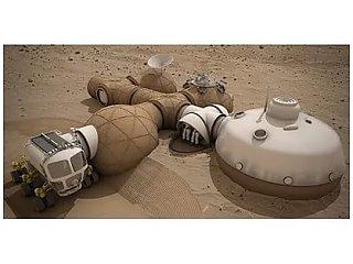 Ученые показали, как будут выглядеть первые дома на Марсе