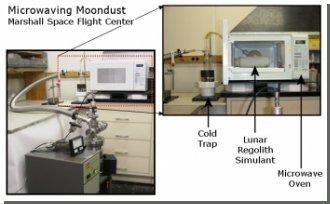 Микроволновая вода из лунной пыли